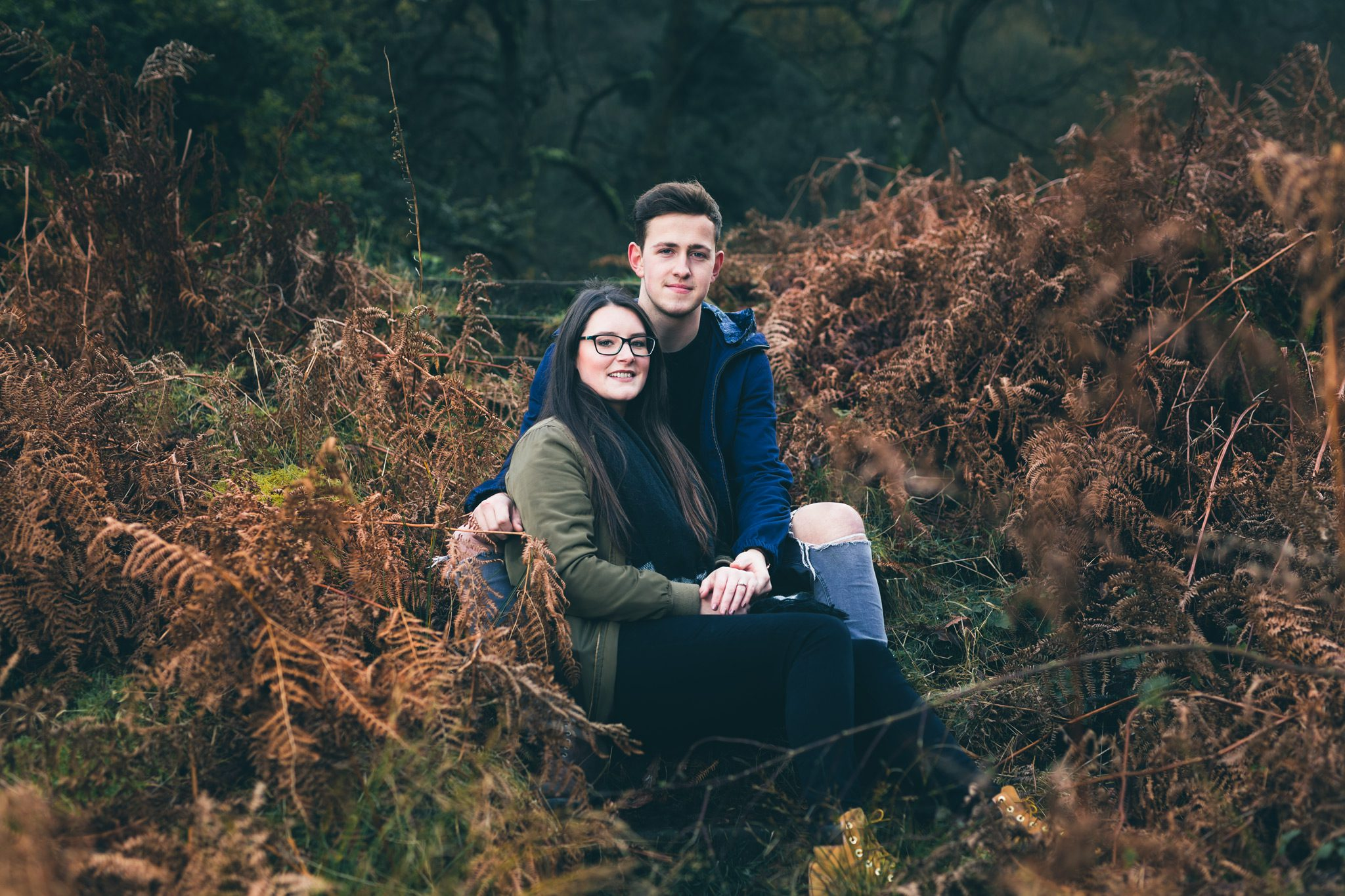 Buxton Engagement Shoot - Couple at Errwood Hall