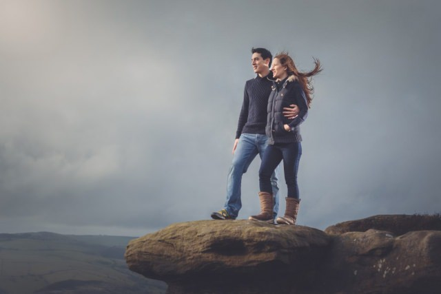 Buxton Photographer - Engagement Shoot Curbar