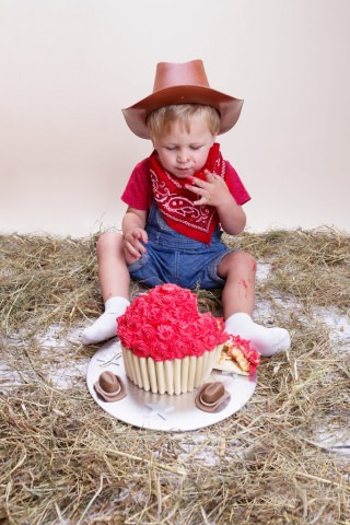 Buxton Photographer - Cake Smash Cowboy