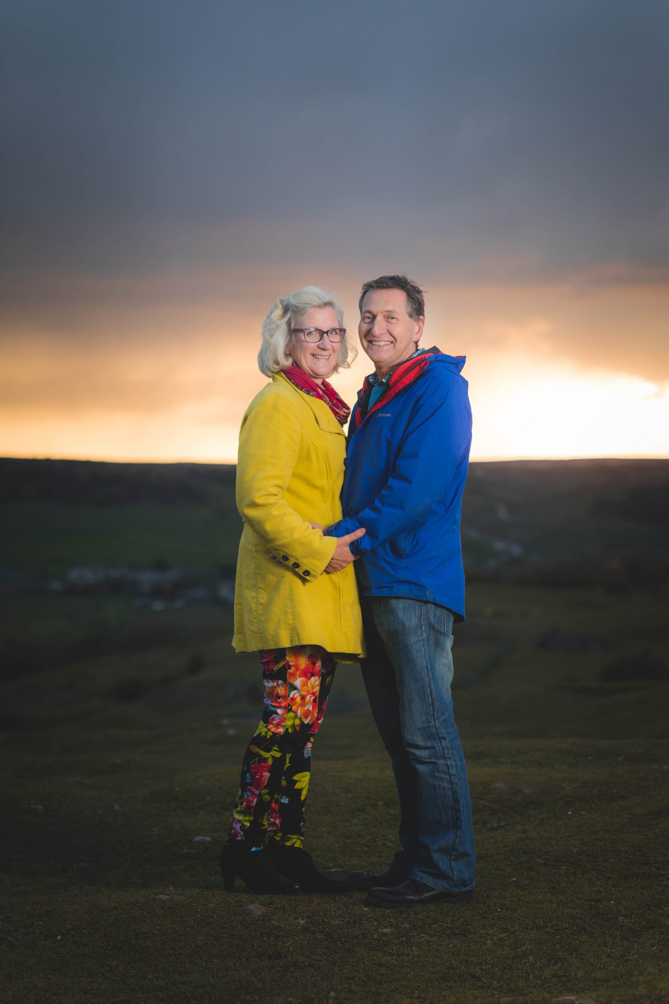 Buxton Portrait Photographer - Debbie and J Sunset