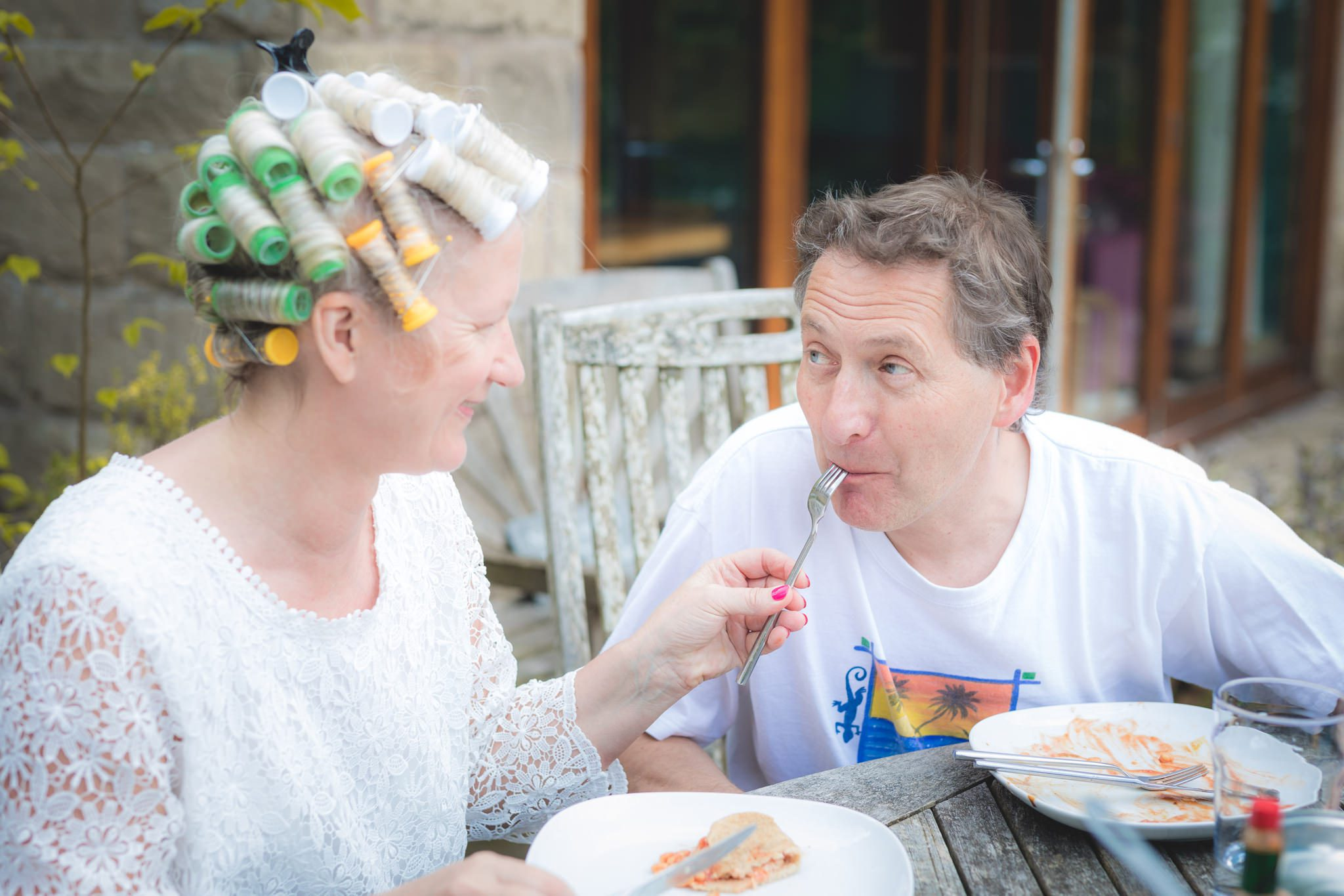 Derbyshire Wedding Photographer - Debbie and J - Breakfast Time