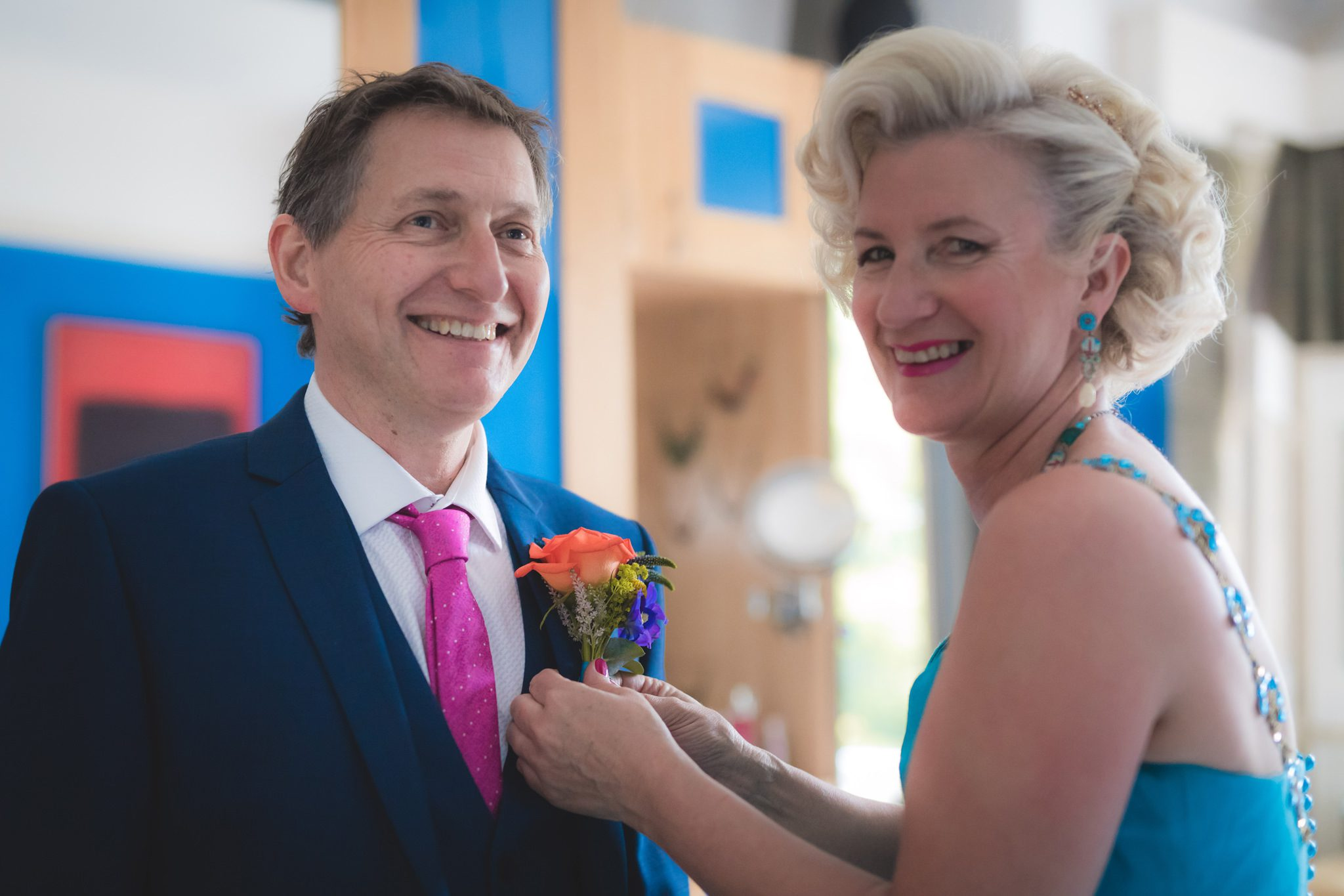 Derbyshire Wedding Photographer - Debbie and J Buttonhole