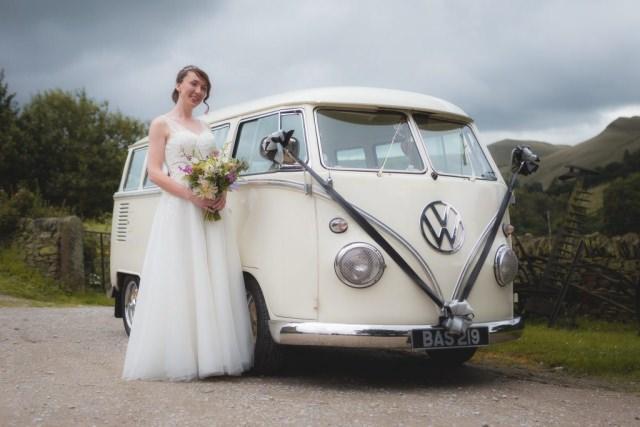 Derbyshire Wedding Photographer - Helen and Rik Hayfield Campervan