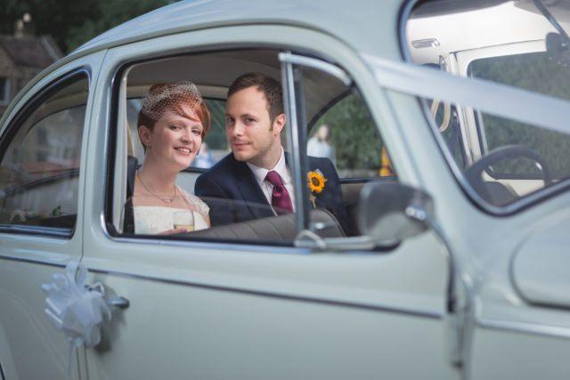Derbyshire Wedding Photographer - Hathersage VW Beetle