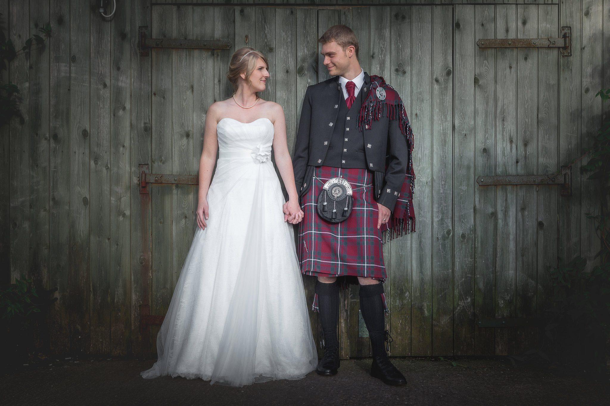The Three Horseshoes Inn Wedding - Couple Shots