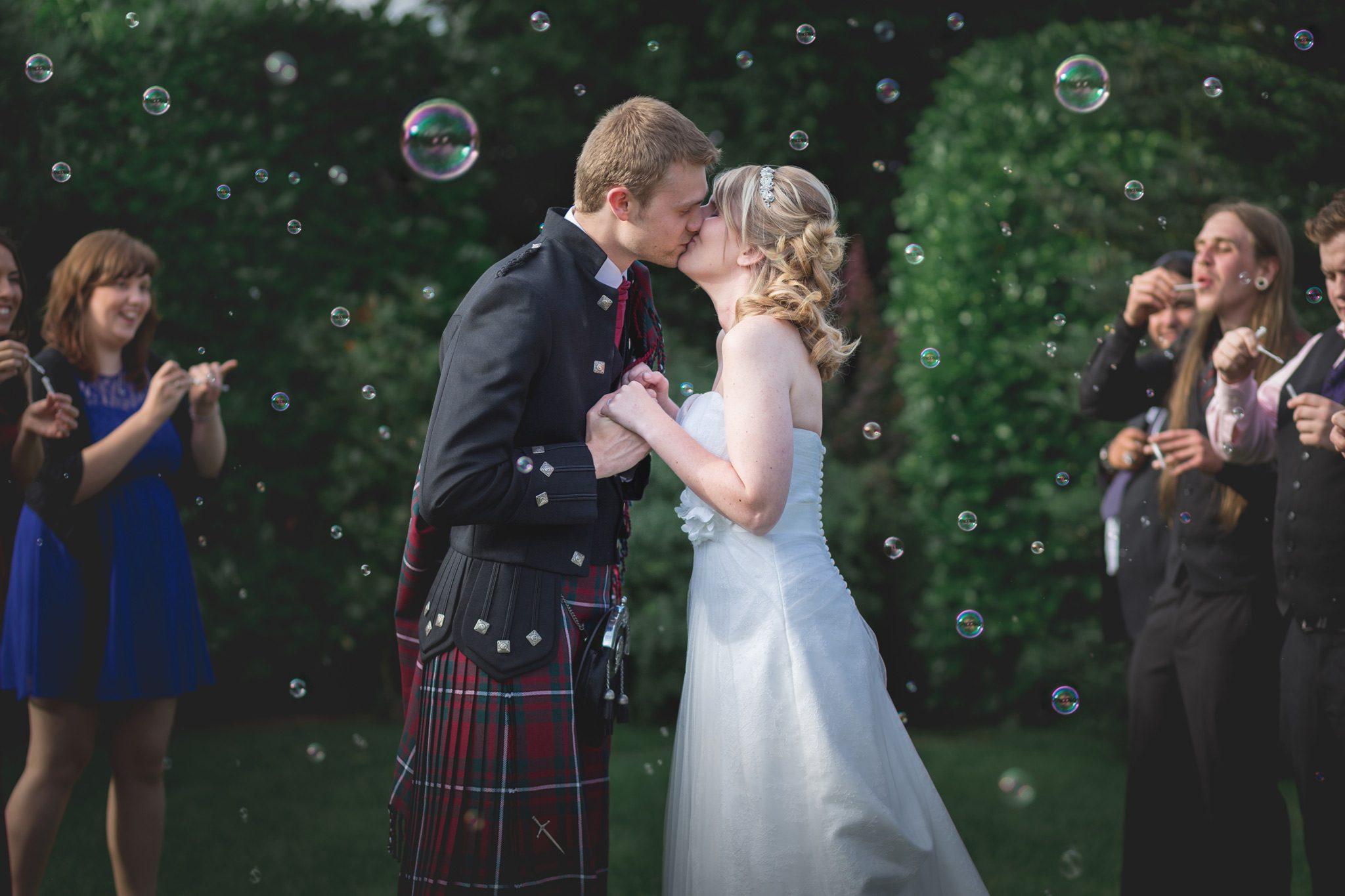 The Three Horseshoes Inn Wedding - Bubbles