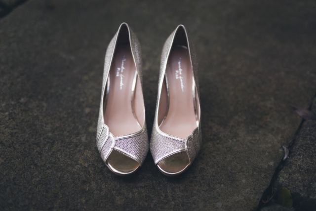 Peak District Wedding Photographer - Gold Shoes