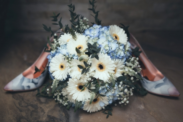 Yorkshire Wedding Photographer - Shoes and Flowers