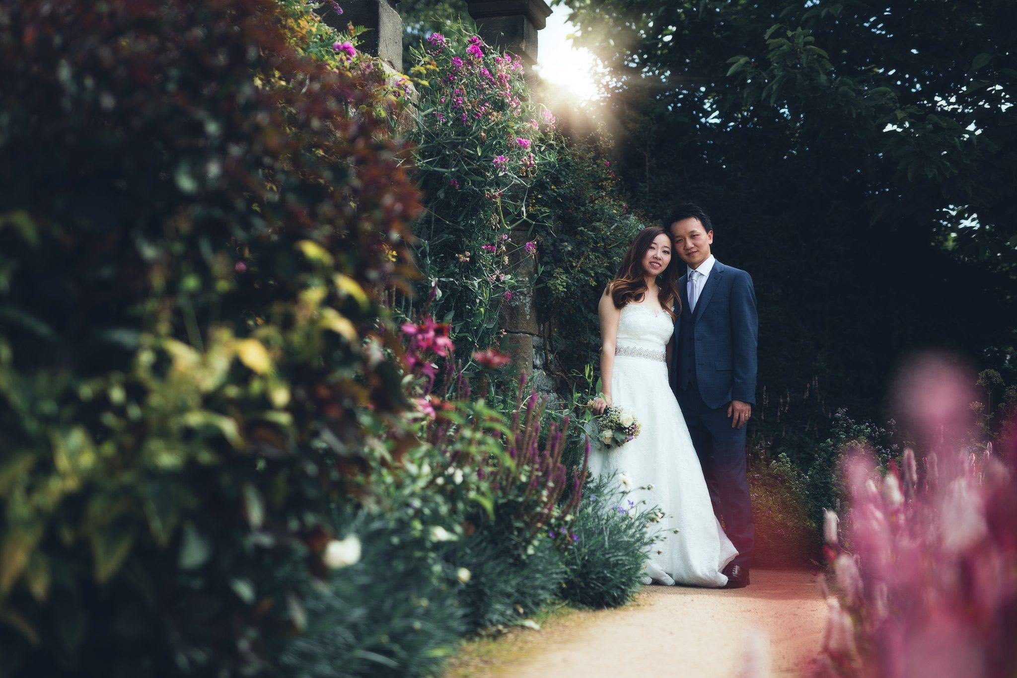 Summer Wedding at Haddon Hall, Bakewell - Xianxi and Lufei In the Beautiful Gardens