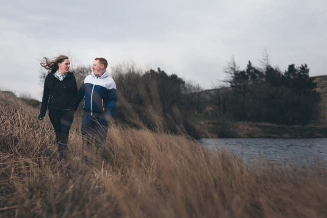 Goyt Valley Jetty Engagement Shoot