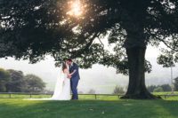 Rustic Wedding in Cheshire - Heaton House Farm Couple Under the Tree