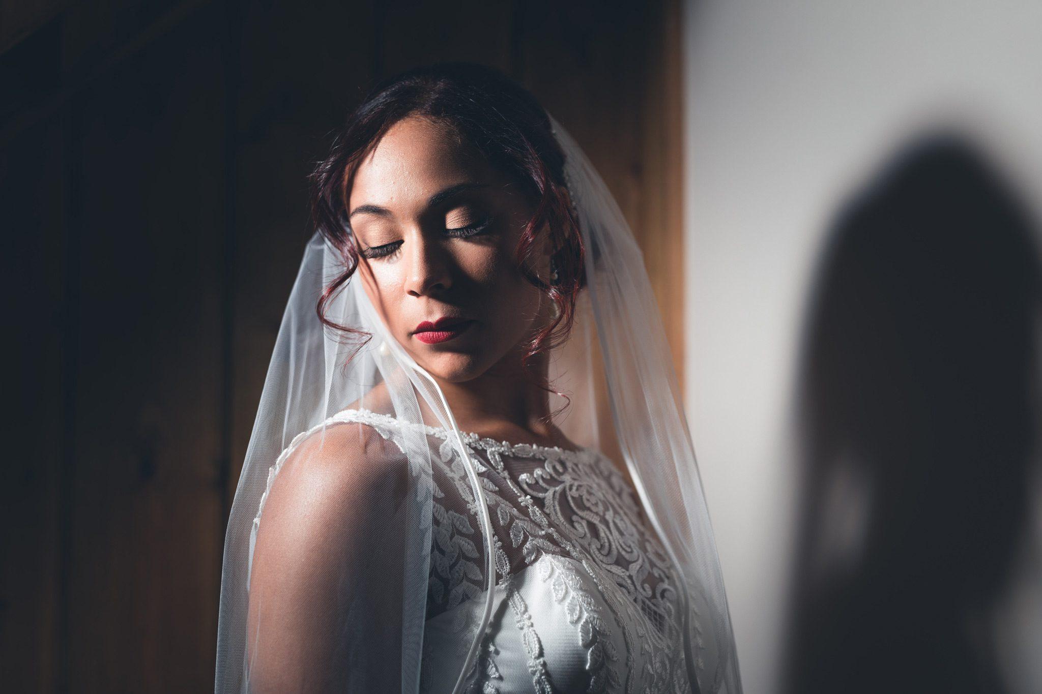 Beautiful bridal portrait in the Peak District