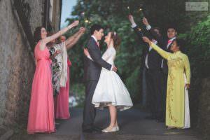 Derbyshire Wedding Photographer - Sparklers