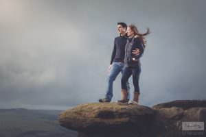 Derbyshire Photography - Curbar Edge Engagement Shoot