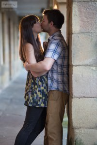 Arch Kiss | Buxton Engagement Photography