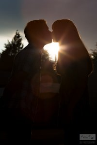 Silhouette Kiss | Buxton Engagement Photography