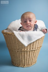 Connor Basket | Newborn Photography